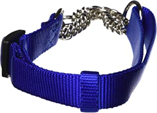 "Hamilton Adjustable Combo Choke Dog Collar, Blue, Medium, 3/4"" x 18-26"""