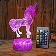 XEUYUTR Unicorn LED Night Light Lamp Room Party Decorations Decor Christmas Birthday Xmas Gifts Present Bedside Lamp for Girls Boys Baby Toddlers Children Age 5 4 3 1 6 2 7 8 9 10 11 12 Years Old kids