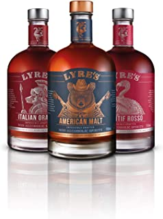 Lyre's Boulevardier Non-Alcoholic Set (Pack of 3)   American Malt (Bourbon Style), Aperitif Rosso (Sweet Vermouth Style) &...