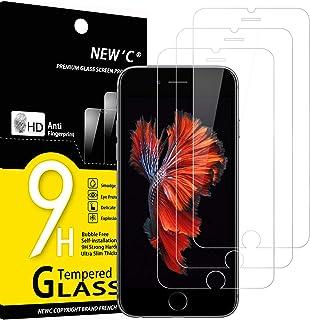 NEW'C 3 Stück, Schutzfolie Panzerglas für iPhone 6s / 6, Frei von Kratzern, 9H Härte, HD Displayschutzfolie, 0.33mm Ultra klar, Ultrabeständig