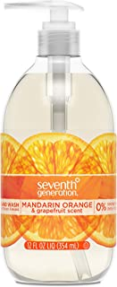 Seventh Generation Hand Wash Soap, Mandarin Orange & Grapefruit , 12 Fl Oz, (Pack of 8)