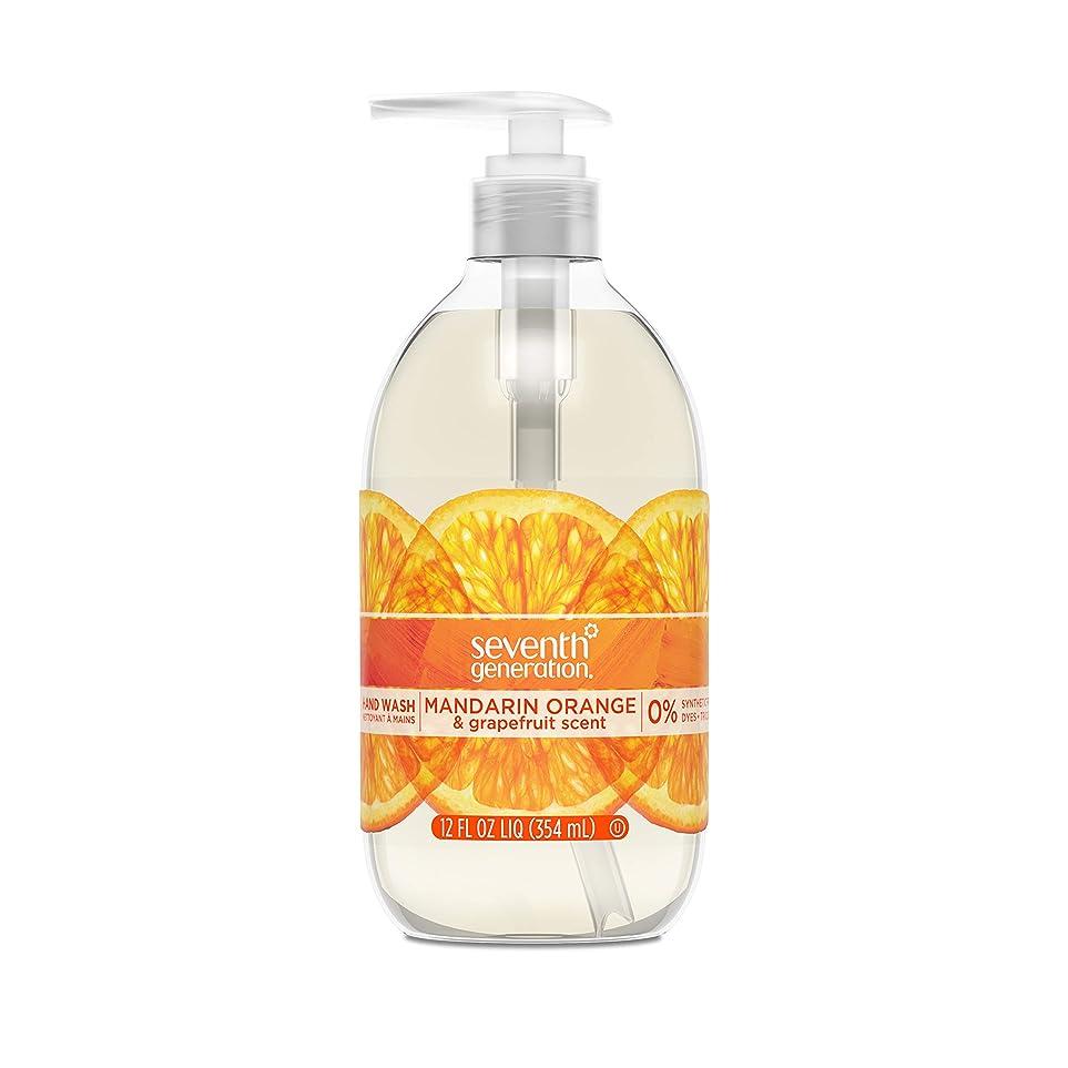 忌み嫌う召集する子Seventh Generation Hand Wash, Mandarin Orange & Grapefruit , 12 Fl Oz by Seventh Generation