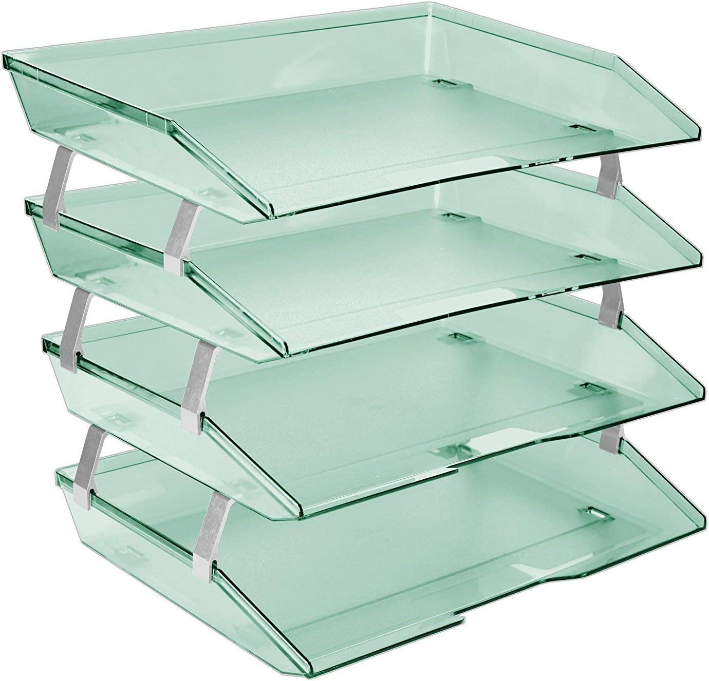 Acrimet Facility 4 Purchase Tier Letter Tray Fi Plastic Load Side Desktop Fashionable