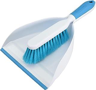Everclean 6670.0 Dustpan and Brush Set, Ergonomic Brush Design, Green/White