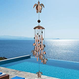 Gulito Outdoor Wind Chimes 33 inch Garden Chimes with 4 Aluminum Alloy Tubes Memorial Hanging Wind Chime for Garden Patio ...