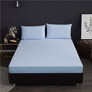 Premium Quality Plain Fitted Sheet, Soft & Cosy Fleece Bed Linen, Bedding, Kingsize Bedsheet,90x200cm+30cm