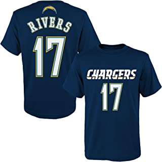 Outerstuff Philip Rivers Los Angeles Chargers NFL Youth 8-20 Navy Blue Mainliner Player Name & Number T-Shirt