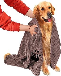 حوله سگ NLUJGYAV سوپر جاذب میکروفیبر بزرگ دوزی شده حوله های خشک سگ نرم نرم خشک برای سگ های بزرگ متوسط سگ خانگی حمام مسافرتی ساحل شنا حوله حمام قابل شستشو