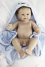 NPK Reborn Baby Dolls Boy Newborn Silicone Full Body Lifelike Doll 22 inch Male Part Washable Handmade Open Mouth Pacifier