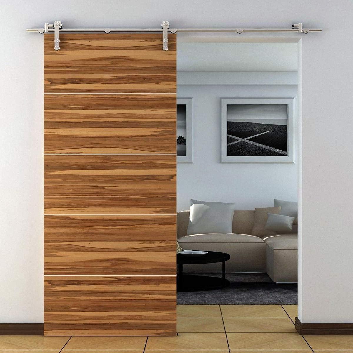 KINMADE セール特別価格 Stainless Steel I-Shape Contemporary Sliding H 期間限定送料無料 Door Barn