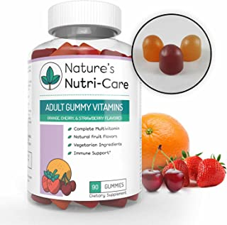 Nature's Nutri-Care Adult Gummy Vitamins - 90 Gummies - Vegetarian Gummy Multivitamin - Essential Vitamins, Antioxidants, and Minerals - Made in USA