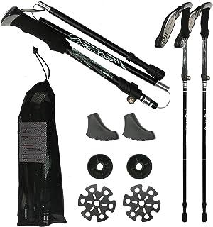 Trekking Poles for Hiking Collapsible, KKUYT 2 Pack Lightweight Hiking Poles, Adjustable Aluminum Alloy Walking Sticks wit...