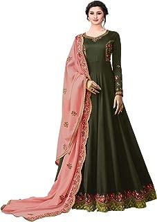 Ethnic Yard Womens Anarkali Semi-Stitched Salwar Suit