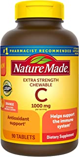 Nature Made Extra Strength Vitamin C Chewable 1000mg, for Immune Support, Antioxidant Support,...