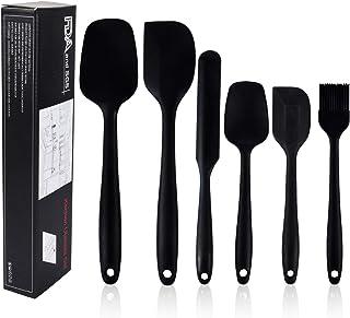 Lot de spatules en Silicone, Spatule Silicone de Cuisine Lot de 6, kit ustensiles de Cuisine Silicone, Résistant à la Chal...