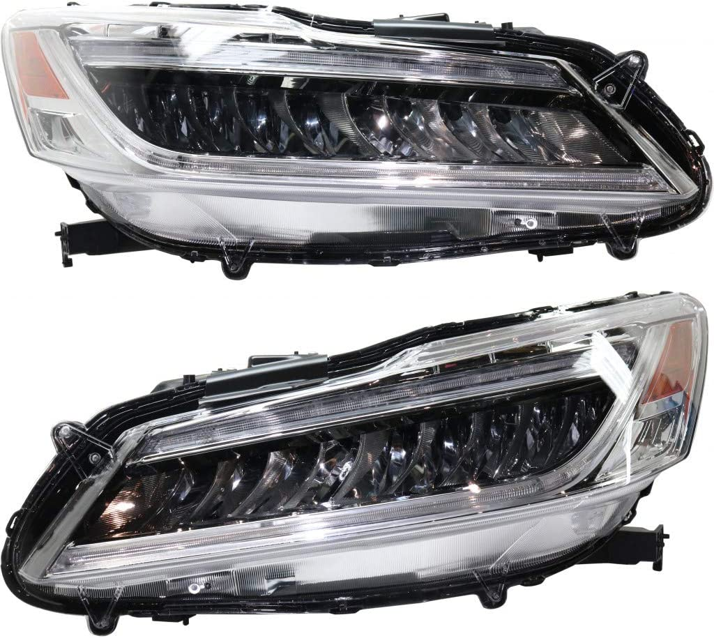 New Shipping Free For Honda Accord Headlight Assembly shop and Driver 2017 Passeng 2016
