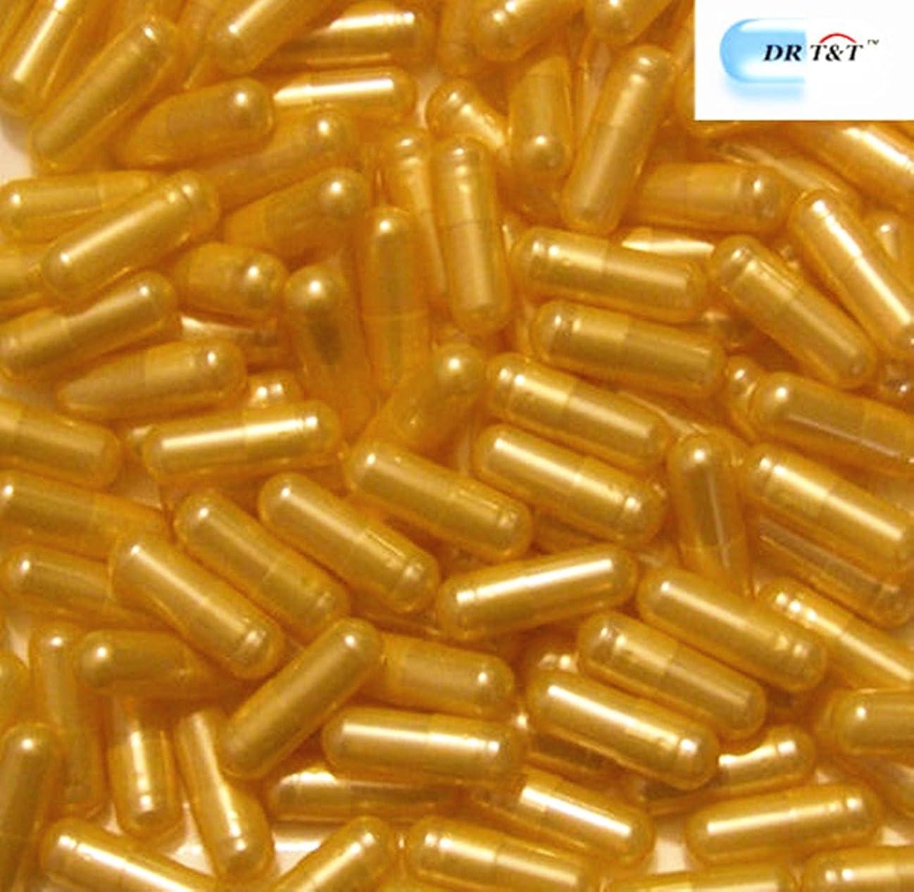扱うピアノチューインガムDR T&T 連体カプセル gelatine ゼラチン(空カプセル?ゼラチンフリー) 00号 黄色のゴールデン 1000個 EU製品
