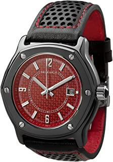 Furtiva CarboTech Limited - Red Carbon Fiber Dial, Men's Watch, Leather Band