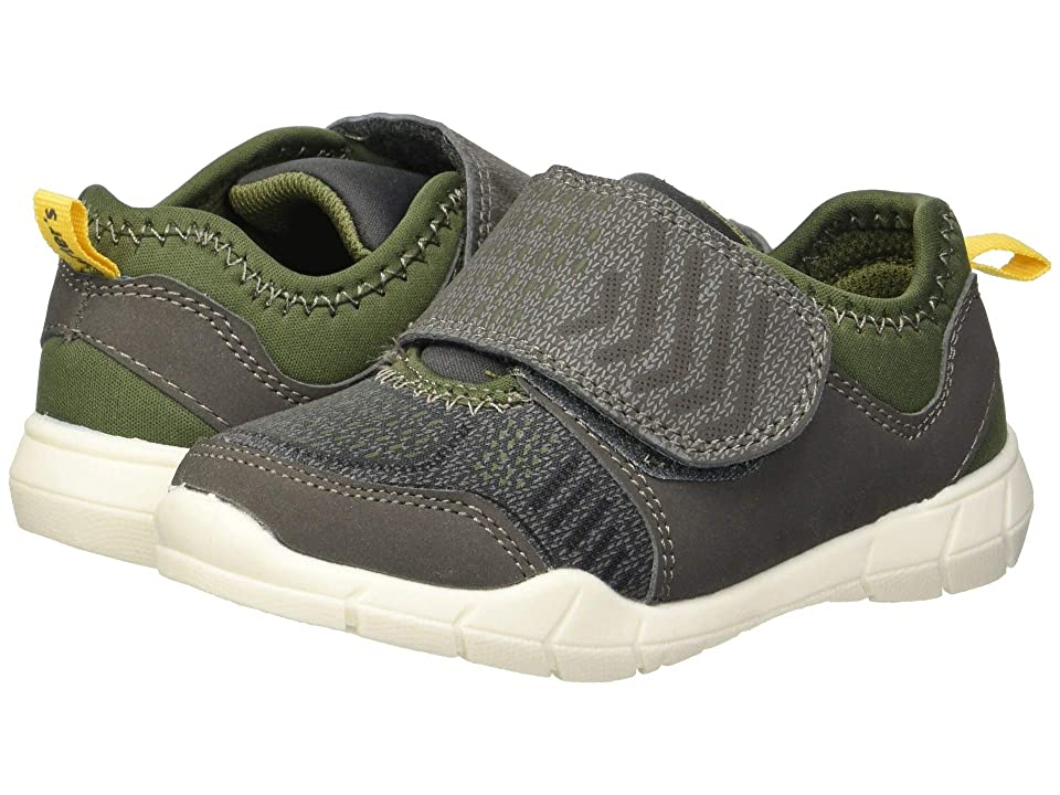 Carters Fulton 2 (Toddler/Little Kid) (Olive Nubuck PU/Jersey) Boy