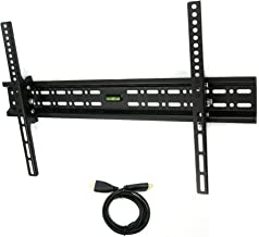 Atron Vision AM-3270TB TV Wall Mount Tilting Bracket for Most 32-70 Inch LED, LCD and Plasma TVs up to VESA 600 x 400mm and 132 LBS Loading Capacity, HDMI Cable and Built-in Level