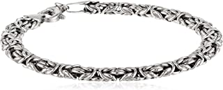 Sterling Silver Byzantine Chain Bracelet, 7.5