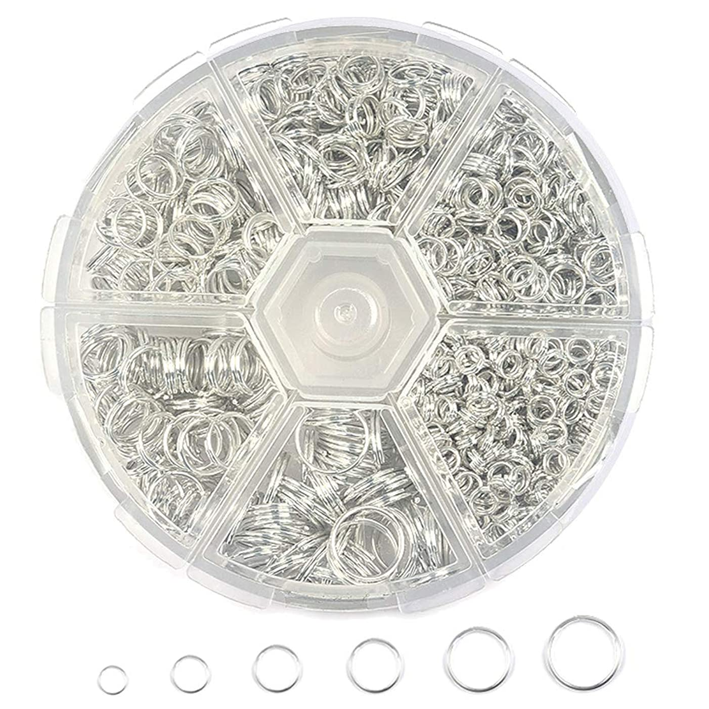 900 Pcs Split Rings Double Loop Jump Ring 4mm to10mm Jewelry Findings for Necklace Bracelet