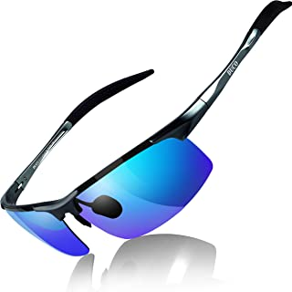 a5771fc4d3 Duco Men s Sports Style Polarized Sunglasses Driver Glasses Unbreakable  Frame 8177S