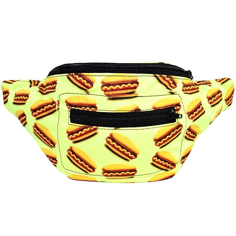 Hot Dogs Fanny Pack, Boho Chic Handmade w/Hidden Pocket