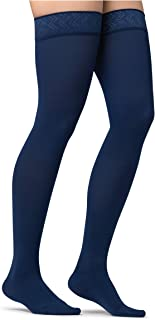 JOBST Maternity Opaque Compression Thigh High Stockings, Closed Toe, 20-30 mmHg Firm Support for Swollen Legs During Pregn...