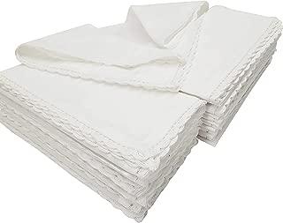 Pack of 12 Pieces ,100% Cellulose Cotton fibres,20
