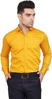 BRANDID Men's Satin Regular Fit Formal Wear Shirt