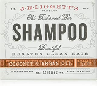 J.R. Liggetts Shampoo Bar Virgin Coconut & Argan Oil 3.5 oz (99 g)