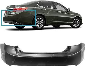 MBI AUTO - Primered, Rear Bumper Cover for 2013-2015 Honda Accord Sedan 4 Door 13-15, HO1100277