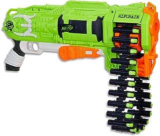 NERF Zombie Strike - Ripchain Blaster - Pump Action - Dart Chain & 25 Elite Darts - Kids Toys & Outdoor Games - Ages 8+