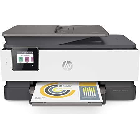 HP OfficeJet Pro 8025 All-in-One Wireless Printer, Smart Home Office Productivity, HP Instant Ink, Works with Alexa (1KR57A)