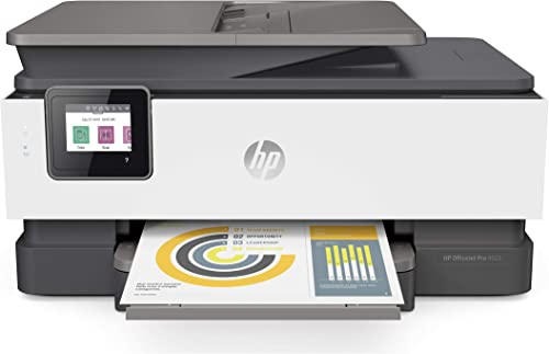HP OfficeJet Pro 8025 All-in-One Wireless Printer, Smart Home Office Productivity, HP Instant Ink, Works with Alexa (...
