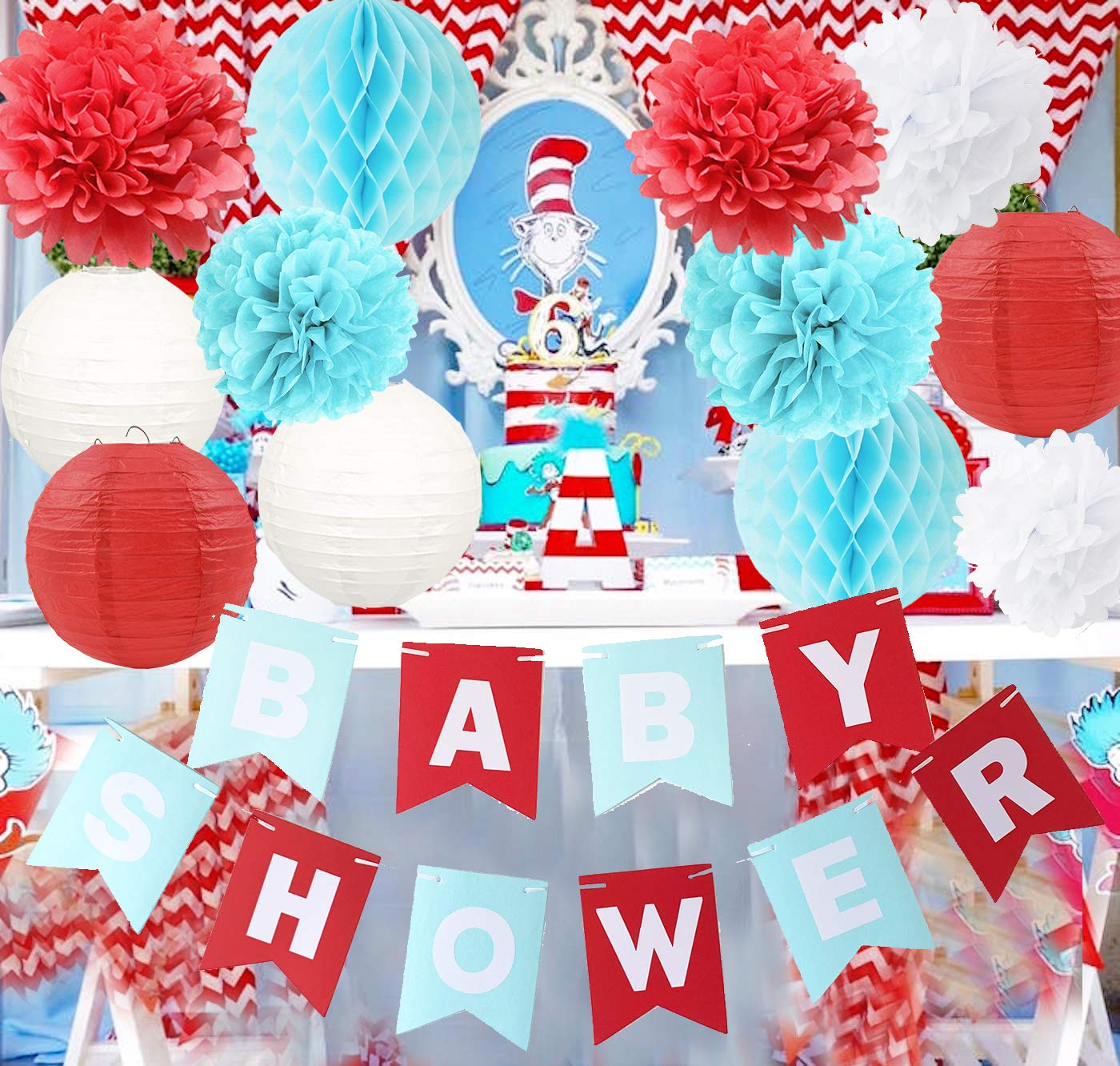 Party Airplane Decorations Honeycomb Carnival