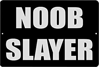 Rogue River Tactical Funny Video Games Metal Tin Sign Wall Decor Man Cave Bar Bedroom Noob Slayer