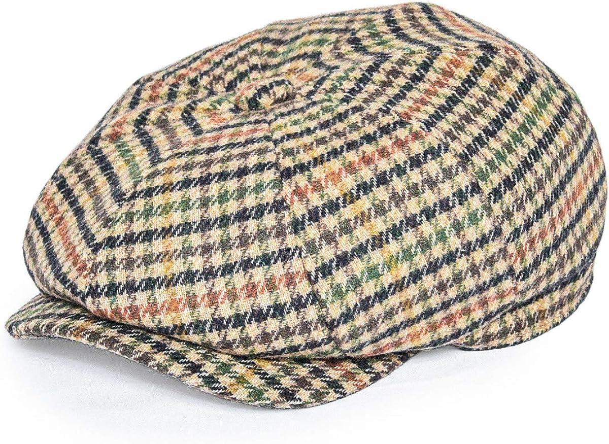 FEINION Online limited product Men Tweed Newsboy Cap 8 Blend Flat Wool Panel Hat Popular overseas