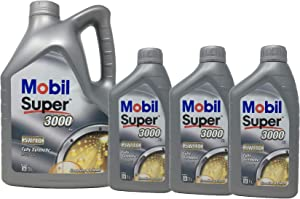Mobil Super 3000 5W-40 Synthetic Motor Lubricant Oil Litre Pack