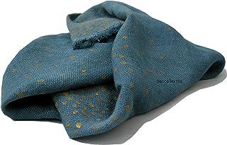 Manta decorativa gris y oro, Colección Linos, cañamo, chal de tejido natural, BeccaTextile.