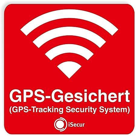 3er Aufkleber Set Gps Gesichert Rot I 6 X 6 Cm I Warnung Gps Tracking Security System Alarm Gesichert I Außen Klebend Wetterfest I Hin 069 Baumarkt
