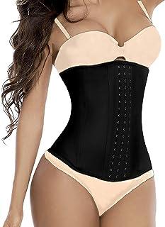 Camellias Women 3 Hooks High Waist Trainer Latex Long Torso Cincher Corset for Weight Loss Body Shaper Slimmer Tummy Contr...