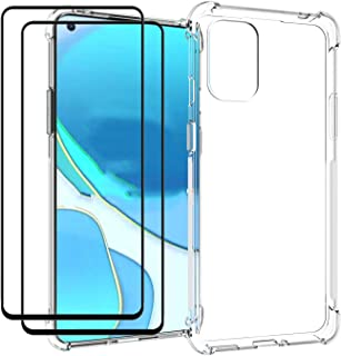 EasyLifeGo for OnePlus 8T / OnePlus 8T 5G Case with Tempered Glass (2 Pieces) Slim Shock Absorption TPU Soft Edge Bumper w...