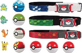 Pokémon Clip 'N' Go Pokémon Master Poké Ball Set (x3 Belts - x4 figures -x7 Poké Balls) Pikachu, Bulbasaur, Charmander, & Squirtle Figures