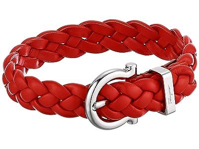 Salvatore Ferragamo Braided Triplait Bracelet 7701014 (Orange) Bracelet