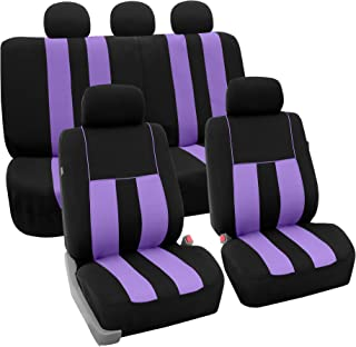 FH Group FB036PURPLE115 Seat Cover (Airbag Compatible and Split Bench Purple)