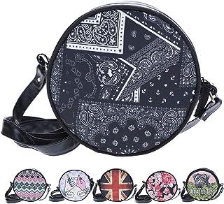 b6d01e5106 whatUneed Mini sac à bandoulière pour femmes filles, forme ronde, sac à  main,
