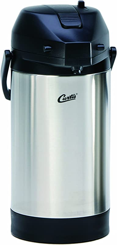 Wilbur Curtis Thermal Dispenser Air Pot 2 5L S S Body S S Liner Lever Pump Commercial Airpot Pourpot Beverage Dispenser TLXA2501S000 Each