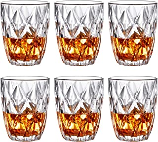 Premium Lead Free Crystal Whiskey Glasses,Set of 6-10 oz Glasses for Old Fashioned Cocktails,Scotch Lovers/Style Glassware for/Rum/Bar Glass Tasting Cups-Vintage Funny Anniversary Gift